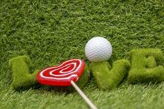 Día feliz del ` s de la tarjeta del día de San Valentín al golfista Fotos de archivo libres de regalías