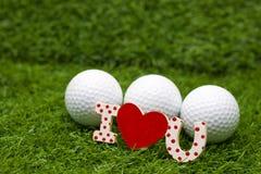 Día feliz del ` s de la tarjeta del día de San Valentín al golfista Fotografía de archivo libre de regalías
