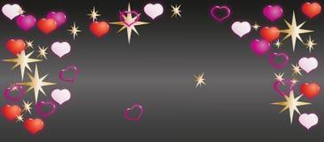 Día feliz del `s de la tarjeta del día de San Valentín Casquillo para las postales o el sitio ilustración del vector