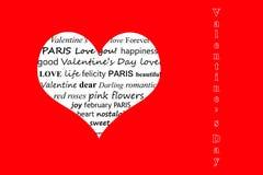 Día feliz del ` s de la tarjeta del día de San Valentín - el día del ` de los amantes imagenes de archivo