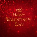Día feliz del ` s de la tarjeta del día de San Valentín de la tarjeta de felicitación del vintage Imagen de archivo libre de regalías