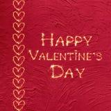 Día feliz del ` s de la tarjeta del día de San Valentín de la tarjeta de felicitación del vintage Fotos de archivo