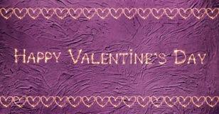 Día feliz del ` s de la tarjeta del día de San Valentín de la tarjeta de felicitación del vintage Fotografía de archivo