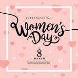 Día feliz del ` s de las mujeres ilustración del vector
