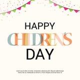 Día feliz del ` s de los niños stock de ilustración