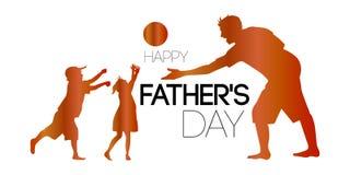 Día feliz del ` s del padre stock de ilustración