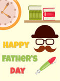 Día feliz del ` s del padre del cartel libre illustration