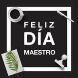 Día feliz del ` s del profesor en español Fotografía de archivo libre de regalías