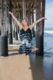 Día feliz en la playa Imagenes de archivo