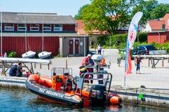 Día festivo en el puerto deportivo en Vordingborg Imagenes de archivo