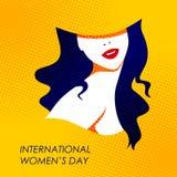Día fondo para mujer internacional feliz de los saludos del 8 de marzo Foto de archivo