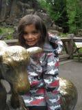 Día frío en el parque zoológico Imagen de archivo