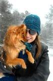 Día frío en nieve Fotos de archivo libres de regalías