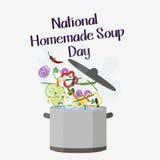 Día hecho en casa de la sopa Imagen de archivo libre de regalías