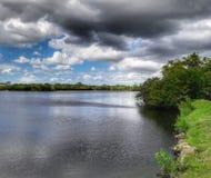 Día hermoso en el lago Fotografía de archivo libre de regalías