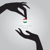 Día Hungría de la unidad nacional libre illustration