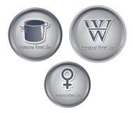 Día icons5 de las mujeres s Fotografía de archivo libre de regalías