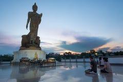 Día importante en concepto de la religión de Buda Imagenes de archivo