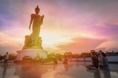 Día importante en concepto de la religión de Buda Imágenes de archivo libres de regalías