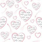 Día inconsútil del ` s de la tarjeta del día de San Valentín del modelo Imágenes de archivo libres de regalías