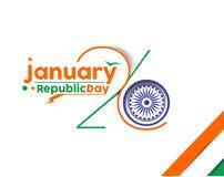Día indio de la república Foto de archivo