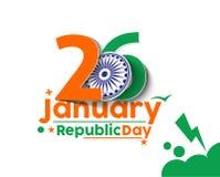 Día indio de la república Fotos de archivo libres de regalías