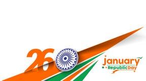 Día indio de la república Imagenes de archivo