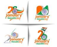Día indio de la república libre illustration