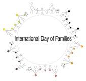 Día internacional de familias Foto de archivo