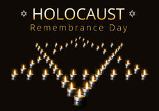 Día internacional de la conmemoración del holocausto, el 27 de enero foto de archivo libre de regalías