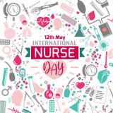 Día internacional de la enfermera stock de ilustración