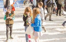 Día internacional de la lucha de almohadilla foto de archivo