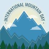 Día internacional de la montaña, el 11 de diciembre libre illustration