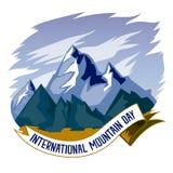 Día internacional de la montaña, el 11 de diciembre Vector conceptual del ejemplo de las cordilleras ilustración del vector