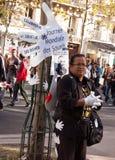 Día internacional de las derechas de lenguaje de muestra Foto de archivo libre de regalías