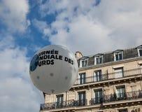 Día internacional de las derechas de lenguaje de muestra en París Imagenes de archivo