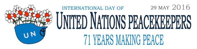 Día internacional 1 de las fuerzas de paz Fotos de archivo