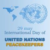 Día internacional 2 de las fuerzas de paz Foto de archivo libre de regalías