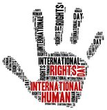 Día internacional de los derechos humanos Imagen de archivo libre de regalías
