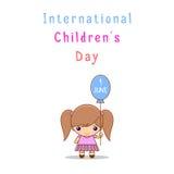 Día internacional de los niños s Foto de archivo