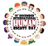 Día internacional del derecho humano Foto de archivo libre de regalías