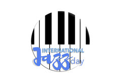 Día internacional del jazz, el 30 de abril Foto de archivo