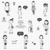 Día internacional del ` s de la mujer ilustración del vector