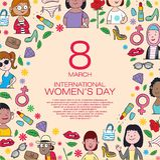 Día internacional del ` s de la mujer libre illustration