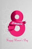Día internacional del ` s de las mujeres Stock de ilustración