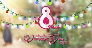 Día internacional del ` s de las mujeres, luz colorida Imagen de archivo