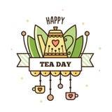 Día internacional del té Ilustración del vector Fotografía de archivo libre de regalías