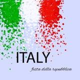 Día italiano de la república de la impresión Foto de archivo libre de regalías