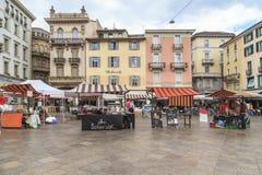 Día justo en Lugano, Suiza imágenes de archivo libres de regalías