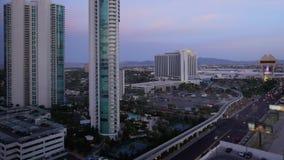Día a la noche Timelapse del paisaje de Las Vegas almacen de metraje de vídeo